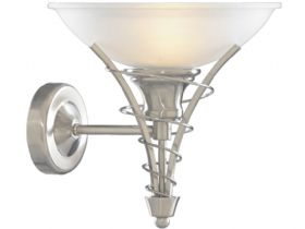 Twist Satin Silver Wall Light