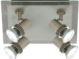 Top Hat Satin Silver Spot Lights