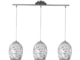 Crackle 3 Light  White Pendant