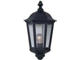Alex Cast Aluminium Black Outdoor Wall Light
