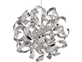 Curls 12 Light Chrome Pendant