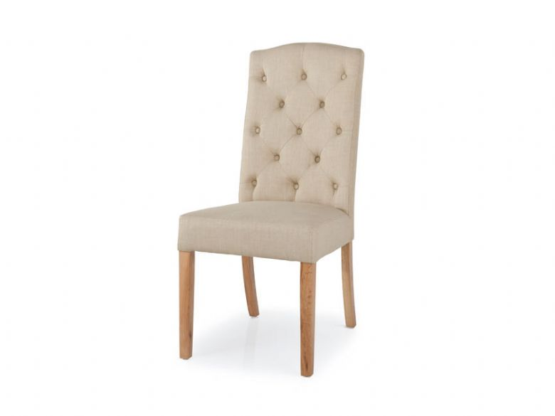 Wiltshire Oak Button Back Dining Chair Lee Longlands