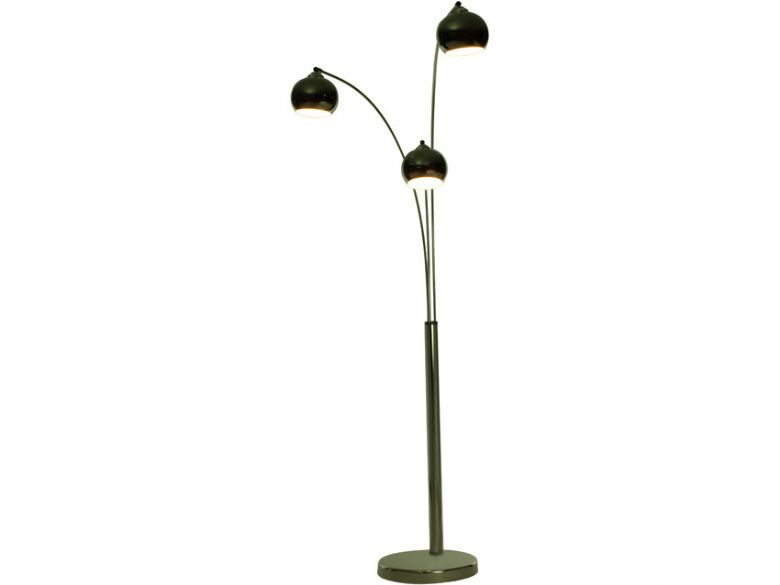 Black Chrome Floor Lamp