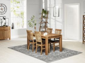 Duke oiled oak dining table and four chairs