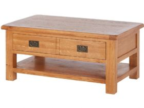 Fairfax Oak Large Coffee Table With Shelf