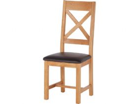 Fairfax Oak Cross Back Chair