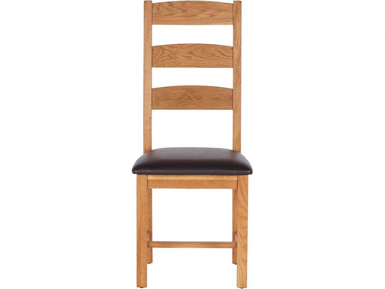 Ladder Back Chair with PU Seat