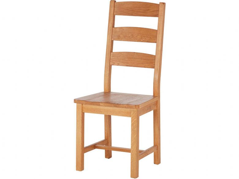 Ladder Back Chair with Wooden Seat