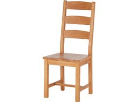 Oak Ladder Back Chair - Wooden Seat