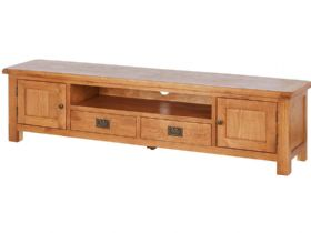 Oak Low Line TV Unit