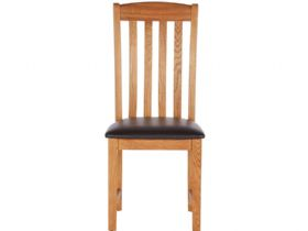Oak Slat Back Chair with PU Seat