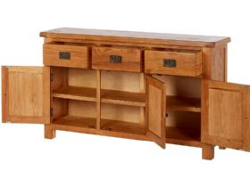 Oak Large Sideboard Open