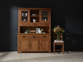 Fairfax Oak Large Sideboard and Hutch