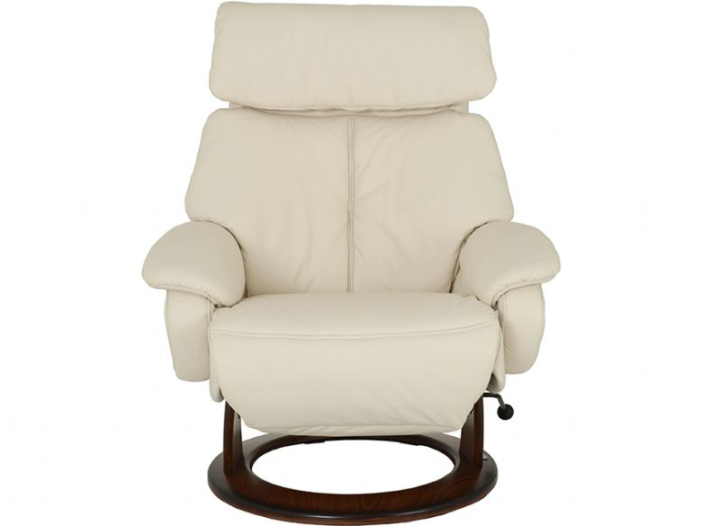 Himolla Tyson Medium leather recliner chair in cream