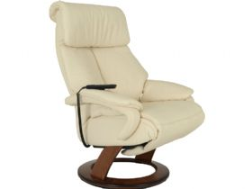 Himolla Tyson electric leather recliner in cream