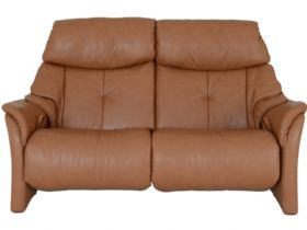 Himolla Chester 2.5 seater manual recliner in brown cognac leather