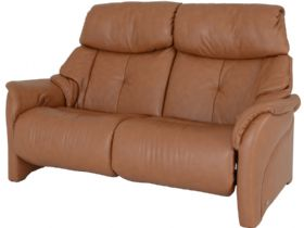 Himolla Chester 2.5 seater electric recliner in brown cognac leather