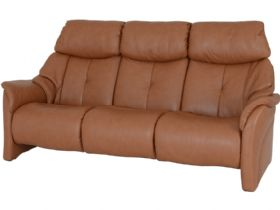 Himolla Chester 3 seater sofa in brown leather (cognac)