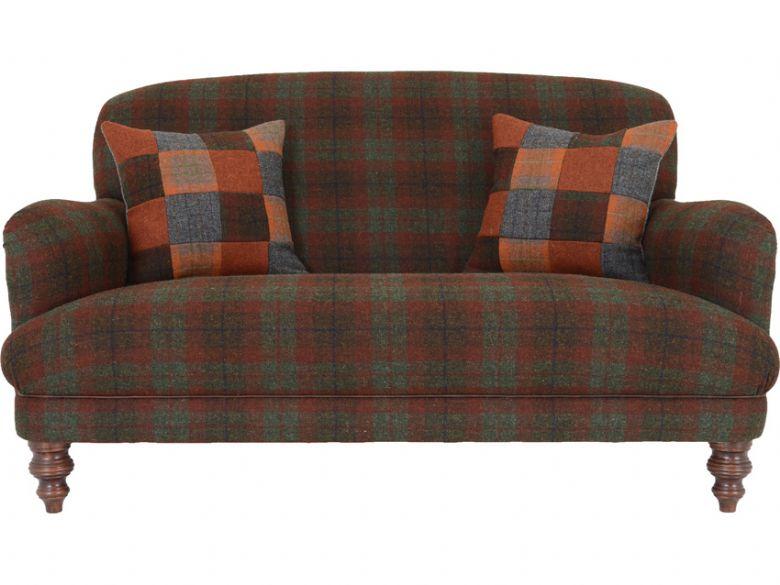 Harris tweed braemar petite sofa lee longlands for Leather and tweed sofa