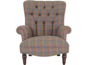Tetrad Harris Tweed Calvay Wing Chair