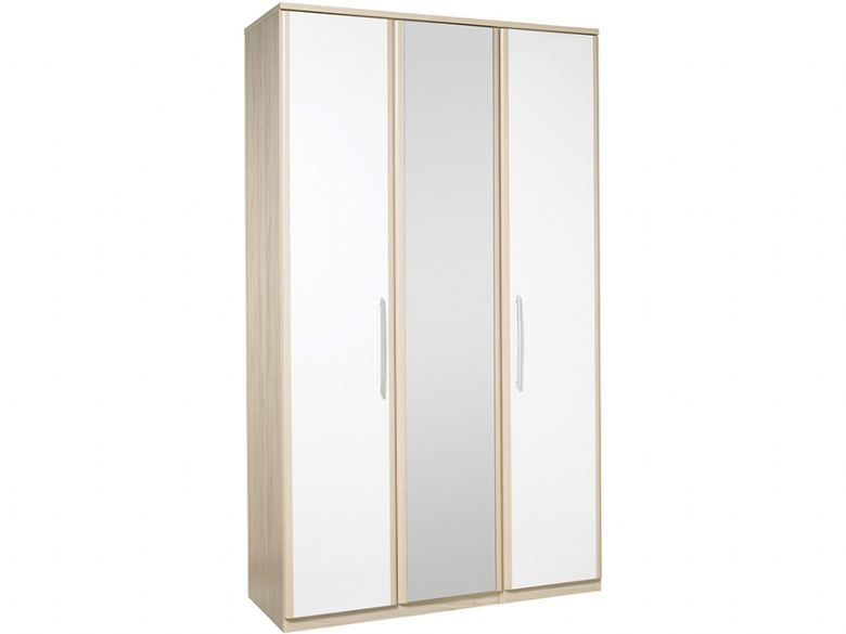 Tall 3 Door Wardrobe With Central Mirror