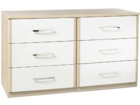 6 Drawer Chest With White Drawers