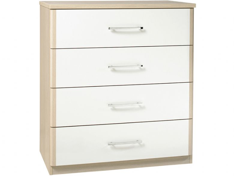 4 Drawer Chest With White Drawers