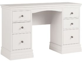 Painted Double Pedestal Dressing Table