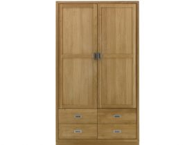 Oak 2 Door Wardrobe