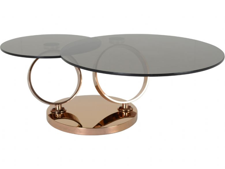 Lilly Coffee Table With Bronze Glass Lee Longlands