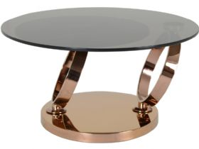 Lilly coffee table  with bronze glass top