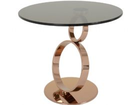 Lamp Table With Bronze Glass