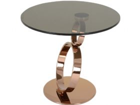 Lilly lamp table with bronze glass