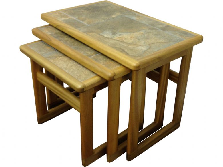 Traditional small nest of tables autumn tile lee longlands for Small nest of tables