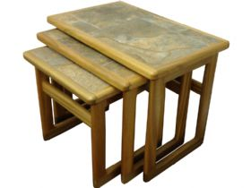 Small Nest of Tables - Autumn Tile