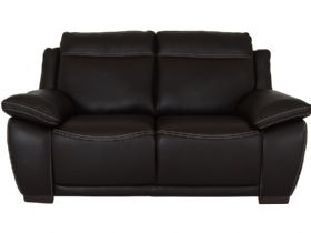 Marco leather love seat in dark brown leather