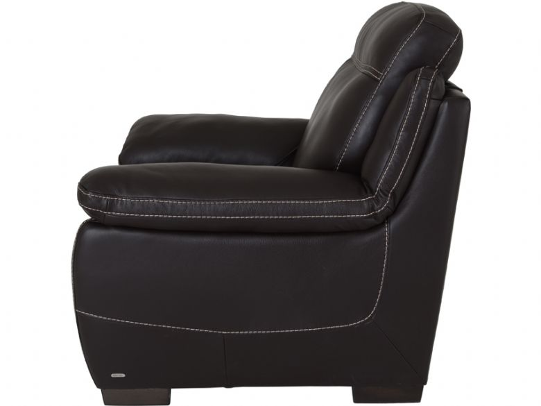 Marco Electric Armchair In Dark Brown Leather