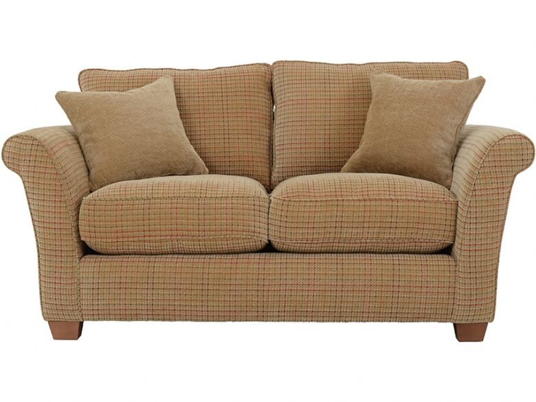 Louisa casual fabric sofa in Tweed Check Chestnut