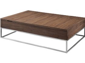 Natuzzi Editions Alberobello Modern Walnut Coffee Table