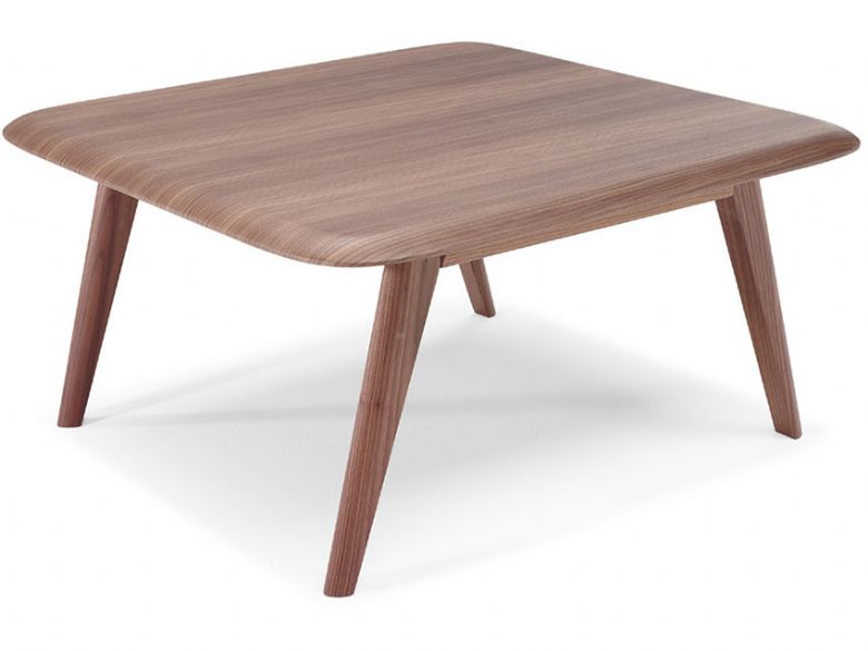 Natuzzi Editions Chianti Modern Square Walnut Coffee Table