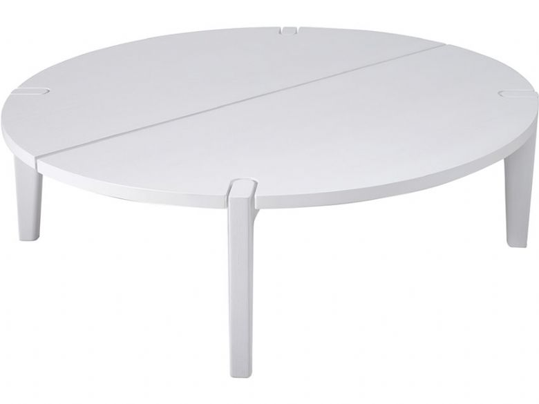 Natuzzi Editions Merlot Modern Round White Oak Coffee Table