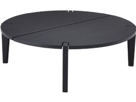Merlot Modern Round Black Oak Coffee Table