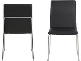 Titus black dining chair