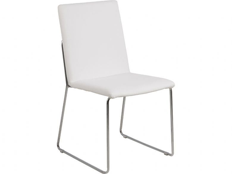 White Titus dining chair