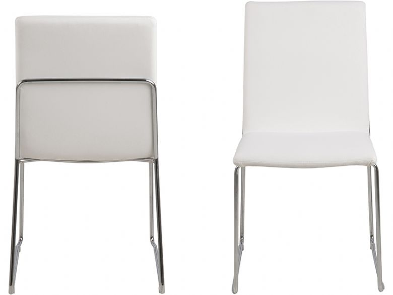 Titus white dining chair