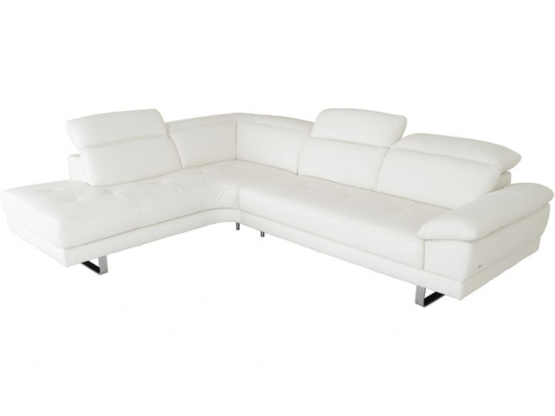 Giovanna corner group in white leather