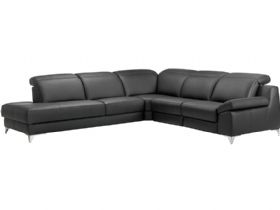 RHF Leather Corner Sofa
