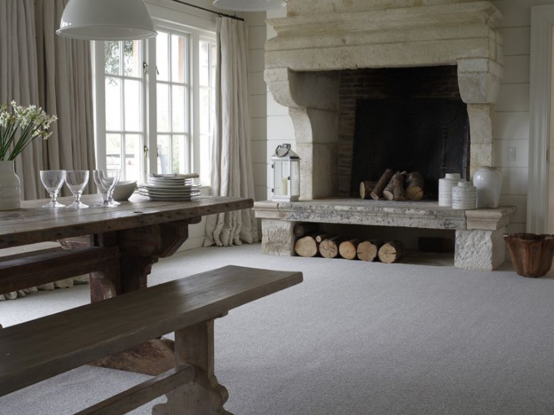 Beachcomber 100% 4 ply undyed natural wool carpet.