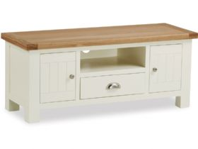 Painted Oak 120cm TV Unit With Drawer