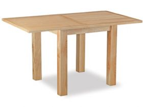 Stonehouse Oak square dining table extended
